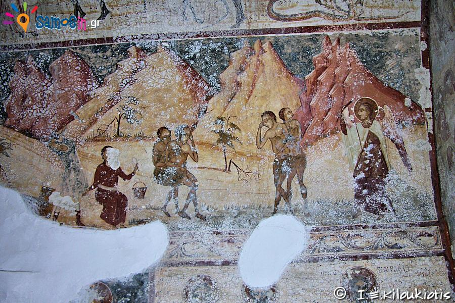 Frescoes at the church of the 18th century
