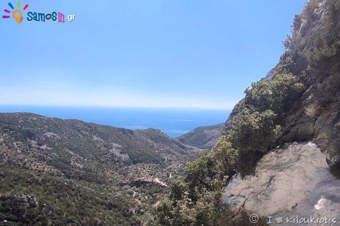 The view to Kiourka's gorge, up to the Sea