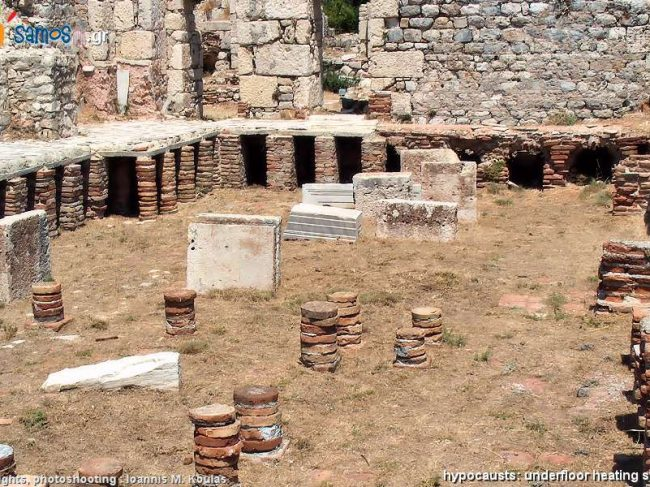 Thermae of Samos ancient city  (Roman baths)
