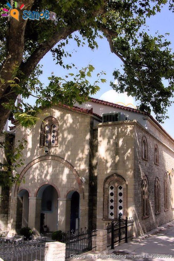 Agii theodori village the church
