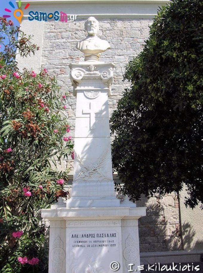 Προτομή του Αλέξανδρου Πασχάλη δωρητής του ναού