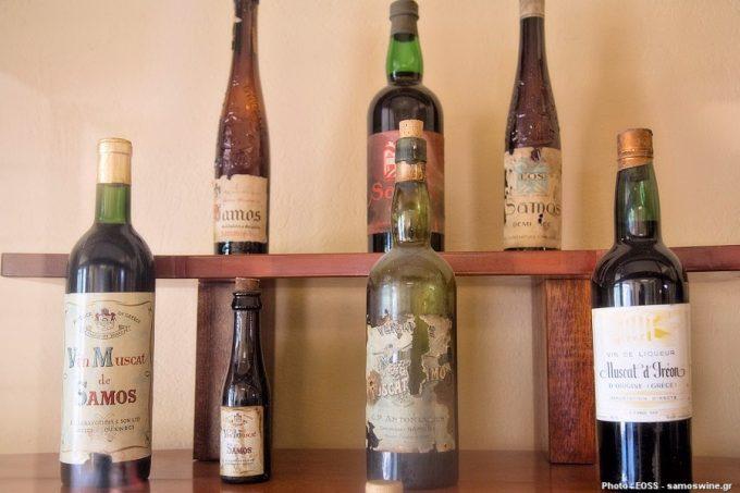Μουσείο Σαμιακού Οίνου, παλιές ετικέτες κρασιών