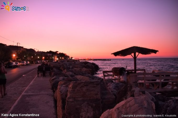Κάτω Άγιος Κωνσταντίνος ηλιοβασίλεμα