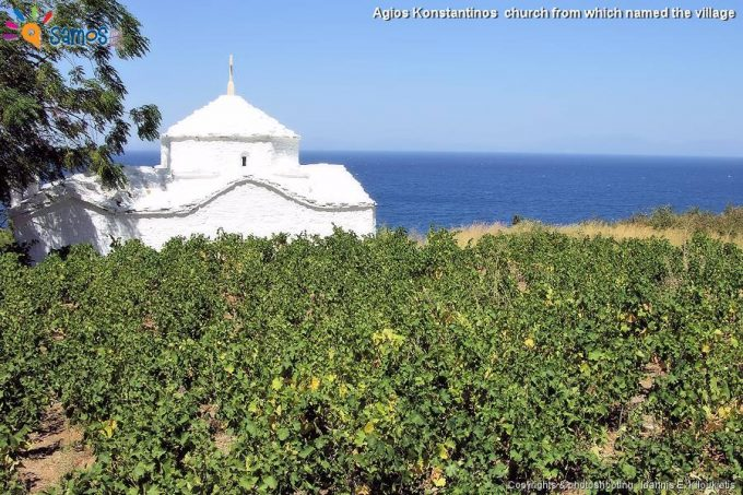 εκκλησία  Αγίου Κωνσταντίνου από την οποία ονομάστηκε το χωριό