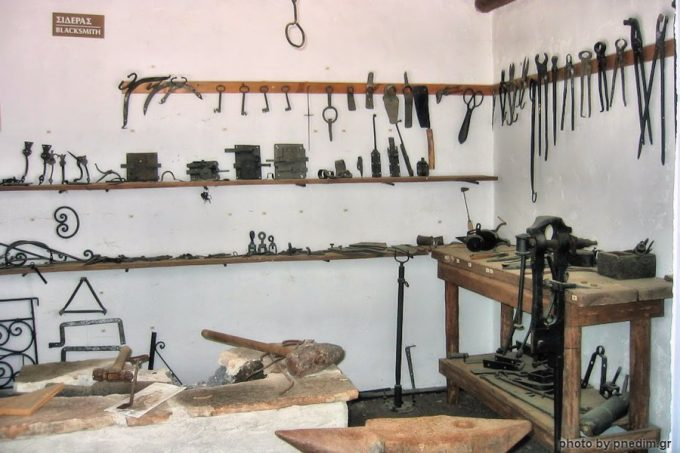 Blacksmith tools, at Folklore Museum of the N.Dimitriou