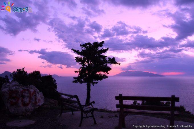 Καλλιθέα, ηλιοβασίλεμα