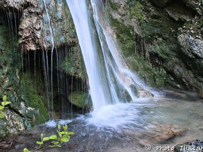 Waterfalls in Ampelos village