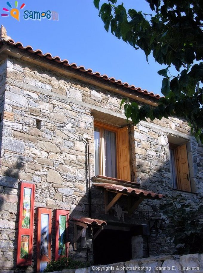 Koumaradei village, traditional stone house