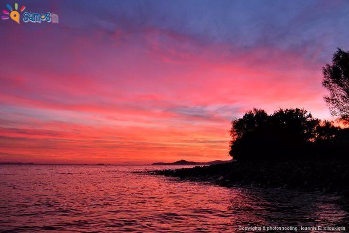 Κάμπος Μαραθοκάμπου, ηλιοβασίλεμα στην παραλία