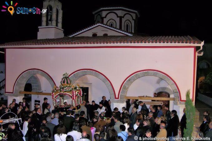 Επιτάφιος την περίοδο του Πάσχα στο Μοναστήρι της Μεγάλη Παναγιά Σάμου