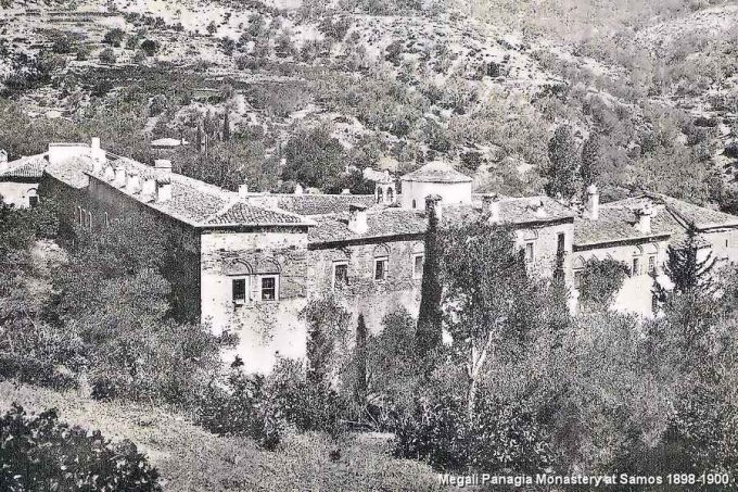 Μονή Μεγάλης Παναγιάς στη Σάμο το 1898-1900