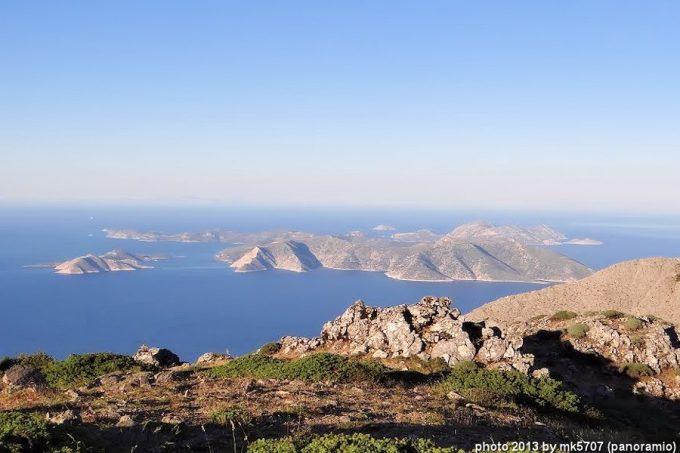 Θέα στα προς τα Δυτικά στο νησί Φούρνοι