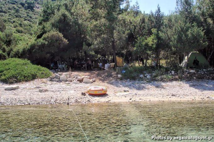 Beach Mikri Lakka at Samos
