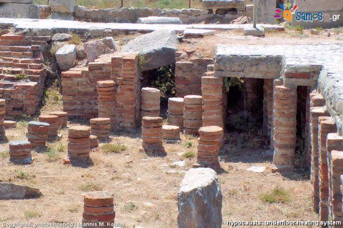 Υποκεφάλειες στα Θέρμα ή Ρωμαϊκά λουτρά της Σάμου