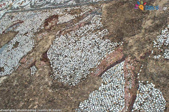 Διακοσμήσεις ψηφιδωτών στα Θέρμα ή Ρωμαϊκά λουτρά της Σάμου