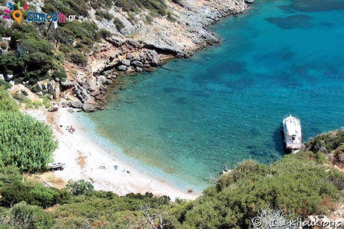 Agios Ioannis Eleimonas beach  at Marathokampos