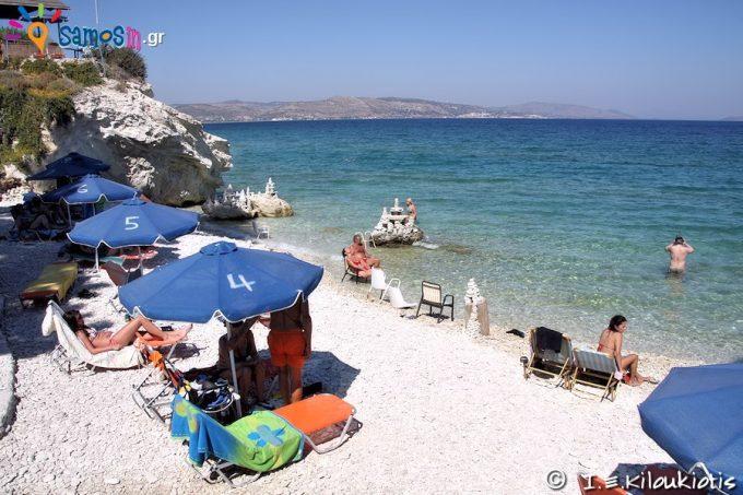 παραλία Παπά ή Άσπρος Κάβος στην Σάμο