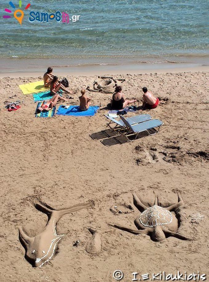 παραλία Ψιλή Άμμος Μαραθοκάμπου