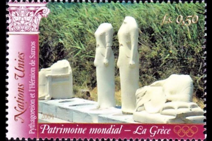 Ο Ναός της θεάς  Ήρας σε Γαλλικό γραμματόσημο