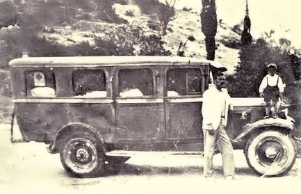 first bus at Samos