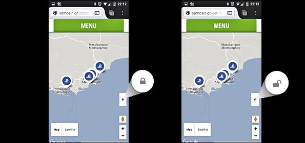 lock and unlock google map