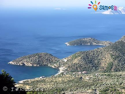 Makria Punda and Limnionas bay at southwestern region of Samos
