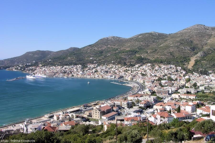Samos town the capital of the Greek island Samos