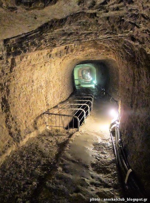 Tunnel of Eupalinos or Amphistomon orygma at Samos island